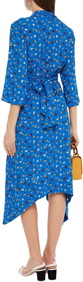 Thumbnail for your product : BA&SH Lilia Gathered Floral-print Crepe Dress