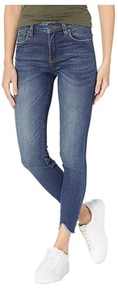 KUT from the Kloth Connie Ankle High-Rise Skinny Jeans w/ Step Hem in Behave w/ Dark Stone Base Wash (Behave w/ Dark Stone Base Wash) Women's Jeans