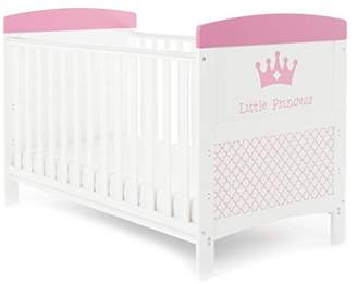 O Baby Obaby Grace Inspire Cot Bed and All Seasons Pocket Sprung Mattress - Little Princess