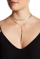 Stephan & Co Double Layer Flat Chain Necklace