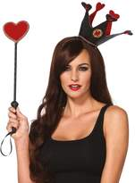Leg Avenue Women's Crown and Scepter Costume Accessory, Black/Red