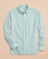 Brooks Brothers Gingham Seersucker Sport Shirt