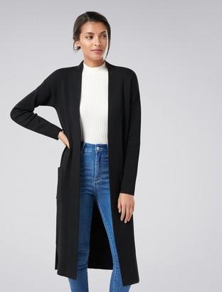 Forever New Natasha Knitted Cardigan - Black - xxs