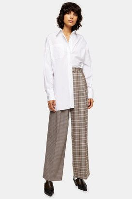 Topshop Womens White Oversized Poplin Shirt - White