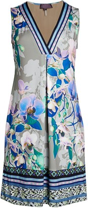 Hale Bob V-Neck Floral Sheath Dress