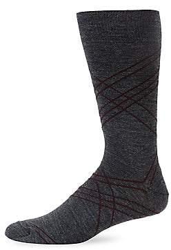 Saks Fifth Avenue Raker Stripe Socks