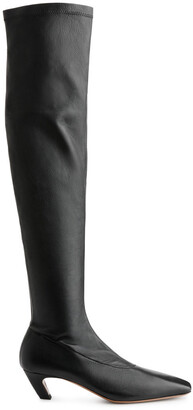 Arket Over-Knee Stretch Leather Boots