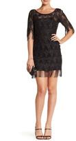 Jessica Simpson Metallic Fringe Dress