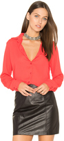 Krisa Wrap Back Button Up