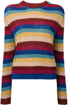 Laneus striped jumper - women - Cotton/Polyamide/Polyester/Viscose - 44