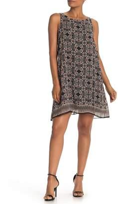 Max Studio Scarf Print Sleeveless Shift Dress