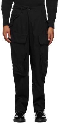 Julius Black Front Fold Cargo Pants