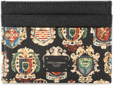 Dolce & Gabbana coat of arms print cardholder - men - Calf Leather - One Size