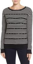 Halogen R) Embellished Pullover (Petite)