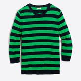 J.Crew Factory Striped three-quarter sleeve sweater
