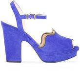 Fendi platform sandals - women - Leather/Suede - 35