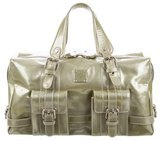 MCM Metallic Patent Leather Satchel