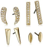 BCBGeneration Crystal and Gold Basic Stud Earrings