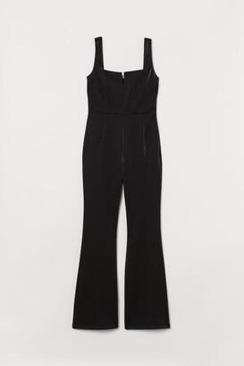 H&M Glossy Jumpsuit - Black