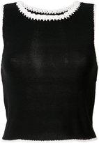 Alice + Olivia Alice+Olivia - fitted top - women - Cotton/Nylon - M