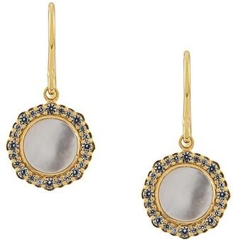 Astley Clarke Mother of Pearl Luna drop earrings