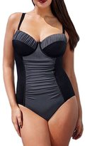 Kalin L Women Sweetheart Ruched Tankini Swimsuits Push Up Padded Bikini One-Piece Sets