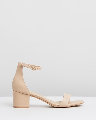 Spurr Women's Neutrals Heeled Sandals - Lunar Block Heels - Size 5 at The Iconic