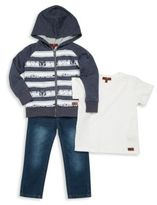 7 For All Mankind Little Boy's Three-Piece Hoodie, Tee & Jeans Set