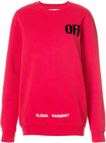 Off-White Off sweatshirt - women - Cotton - XS