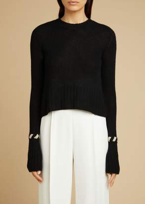 KHAITE The Alena Sweater in Black