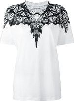 Marcelo Burlon County of Milan patterned collar T-shirt - women - Cotton - L