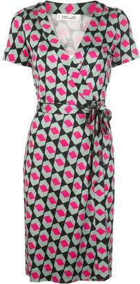 Dvf Diane Von Furstenberg Wrap Front Geometric Print Dress