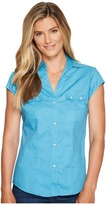 Roper 0979 Solid Poplin - Turquoise Women's Clothing