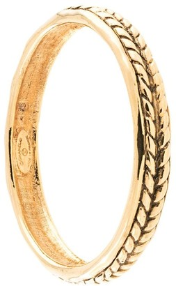 Chanel Pre Owned Wheat Pattern Bangle