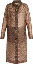 Christopher Kane Leopard-print frosted rubberised coat