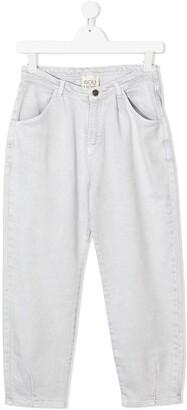 Douuod Kids TEEN high-rise slouchy jeans