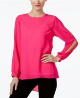 Vince Camuto Printed Split-Sleeve Top