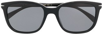 David Beckham Dark-Tinted Square-Frame Sunglasses