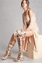 Forever 21 FOREVER 21+ Metallic Thigh-High Boots