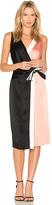 Diane von Furstenberg Taped Wrap Dress in Pink