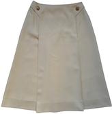 Celine Wool mid-length skirt