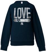 5th & Ocean Girls' New York Yankees Sequin Raglan Sweatshirt