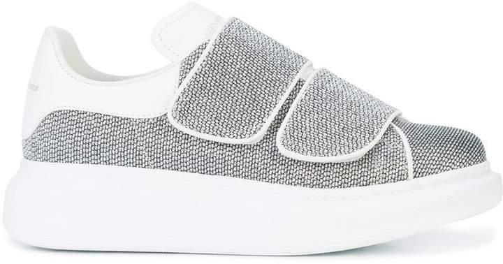 Alexander McQueen textured extended sole sneakers