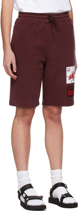 SSENSE WORKS SSENSE Exclusive 88rising Burgundy Patch Shorts