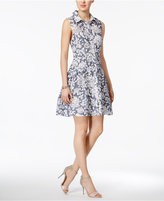 Betsey Johnson Printed Cotton Burnout Shirtdress