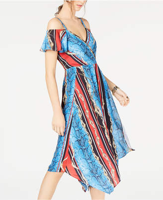 INC International Concepts Inc Cold-Shoulder Surplice Dress