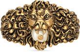 Gucci Lion head cuff bracelet in metal