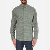 Polo Ralph Lauren Men's Long Sleeved Checked Shirt Myrtle Green