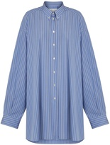 Maison Margiela Oversized striped cotton shirtdress