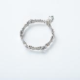 Apricot Silver Daisy Claps Bracelet